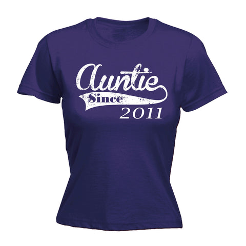 123t Women's Auntie Since ... Any Year Funny T-Shirt