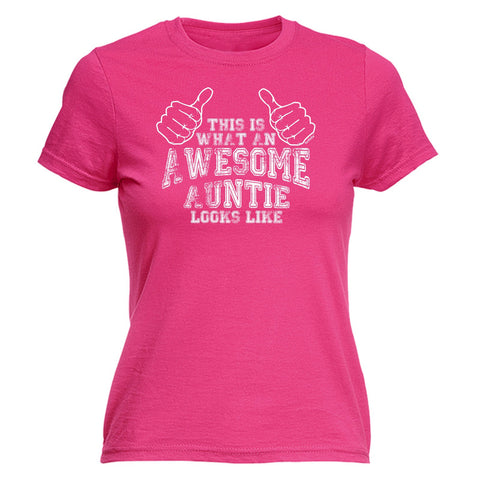 123t Women's This Is What An Awesome Auntie Looks Like Funny T-Shirt