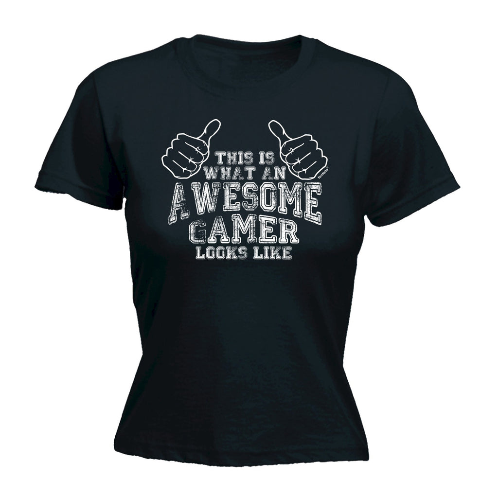 123t Women's This Is What An Awesome Gamer Looks Like Funny T-Shirt