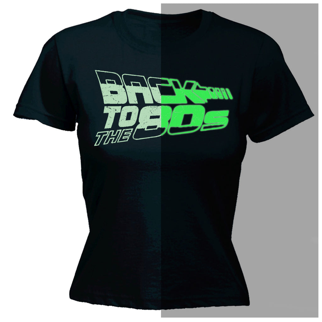 123t Women's Back To The 80s Glow In The Dark Design Funny T-Shirt
