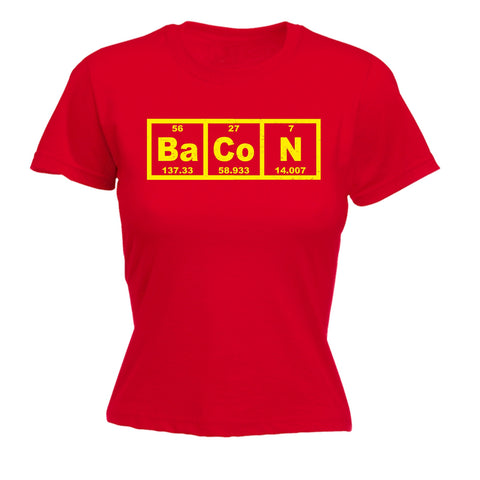 123t Women's Bacon Periodic Element Funny T-Shirt