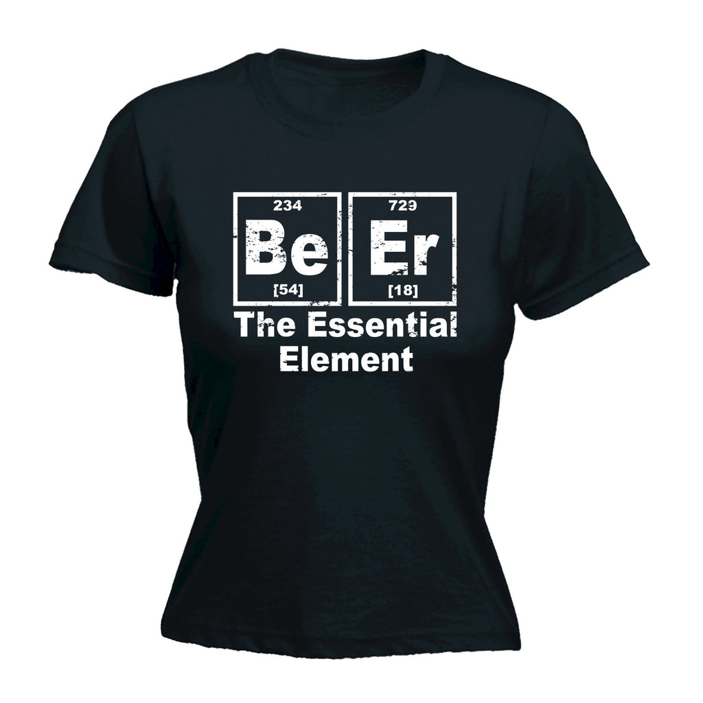 123t Women's Beer The Essential Element Funny T-Shirt