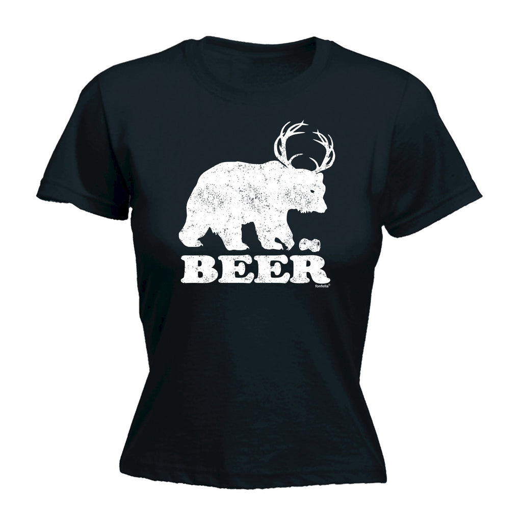 123t Women's Beer Bear Design Funny T-Shirt