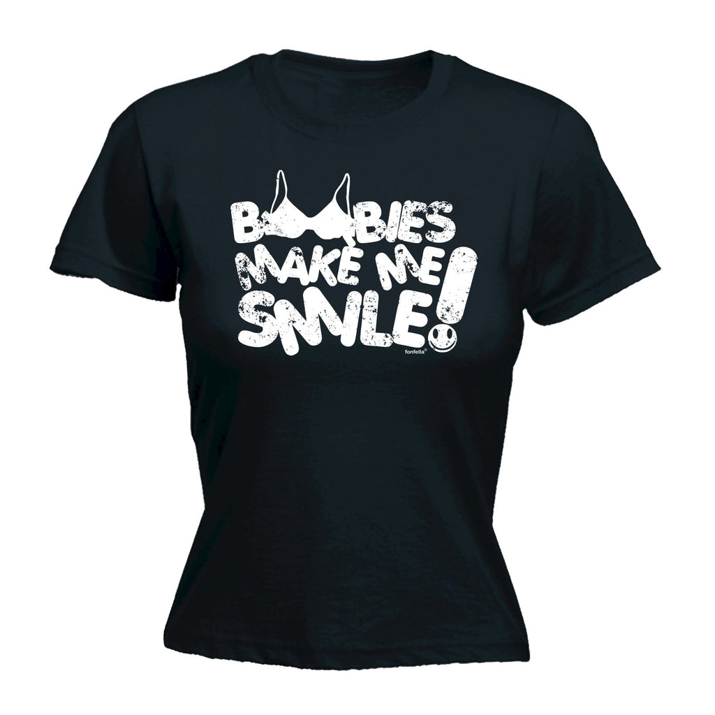 123t Women's Boobies Make Me Smile ! Funny T-Shirt