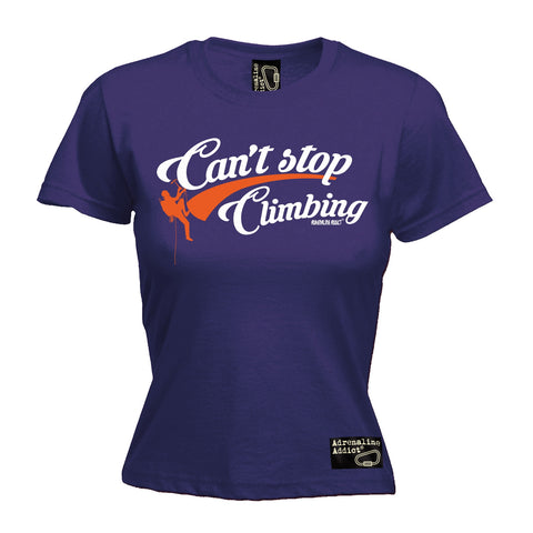 Adrenaline Addict Women's Can't Stop Rock Climbing T-Shirt
