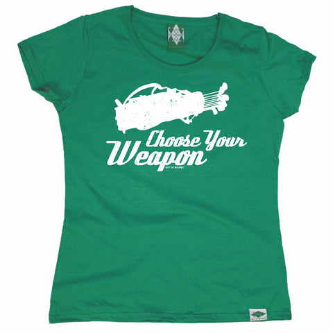 Out Of Bounds Women's Choose Your Weapon Golfing T-Shirt