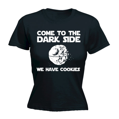 123t Women's Come To The Darkside We Have Cookies Funny T-Shirt
