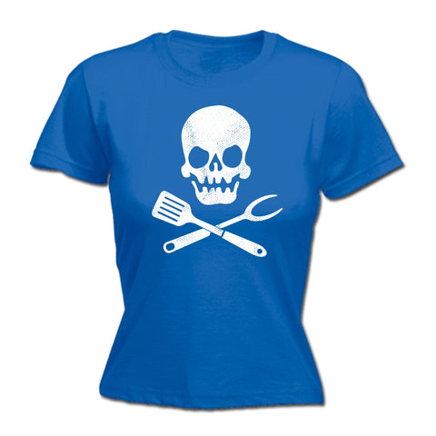 123t Women's Cooking Skull Design Funny T-Shirt