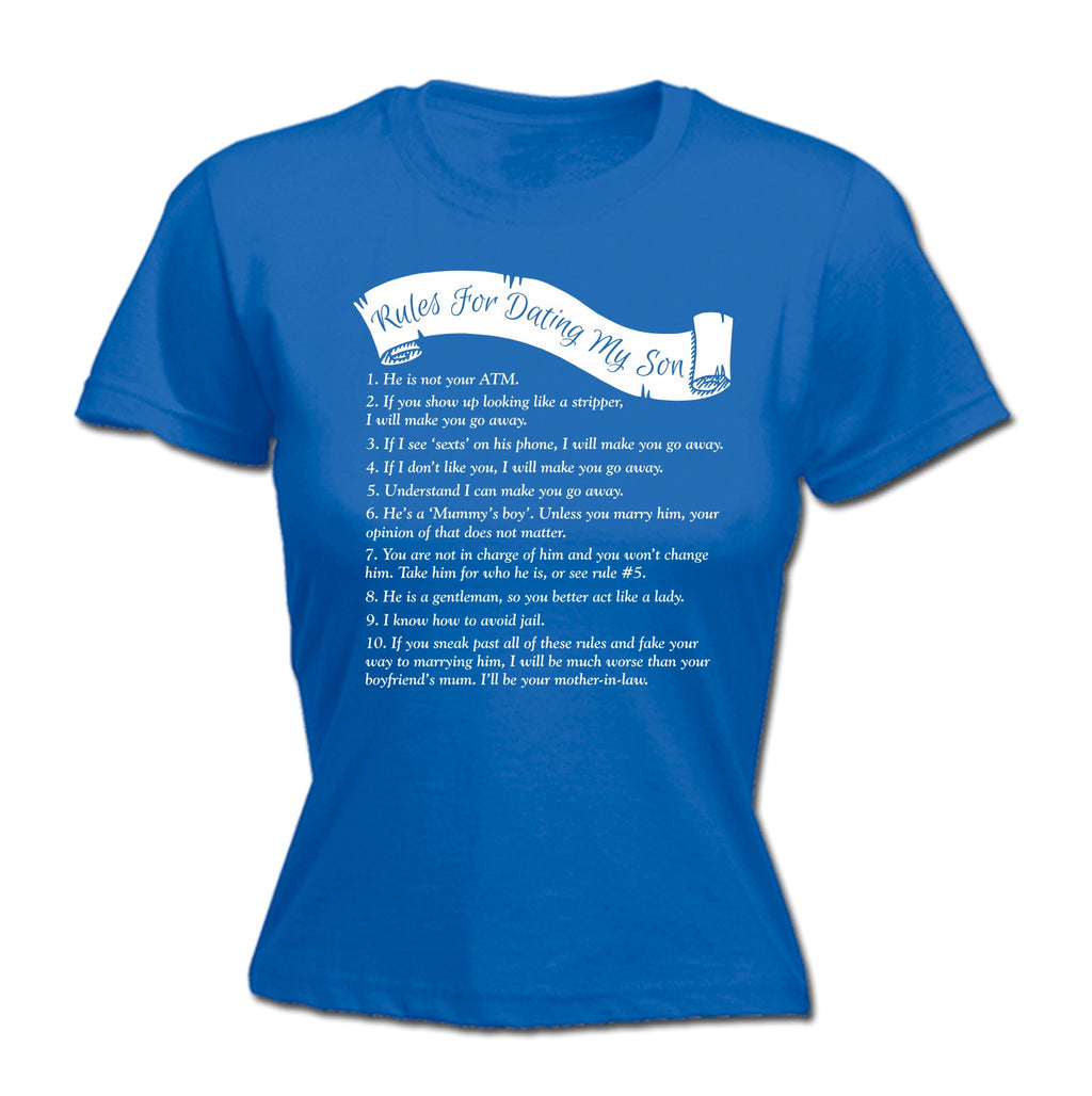 rules for dating my son t shirt
