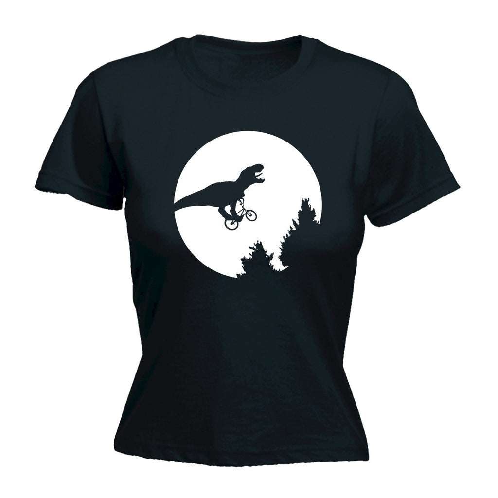 123t Women's Dinosaur Moon Bicycle - FITTED T-SHIRT