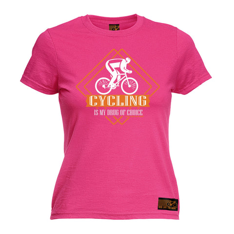 Ride Like The Wind Women's Cycling Is My Drug Of Choice T-Shirt
