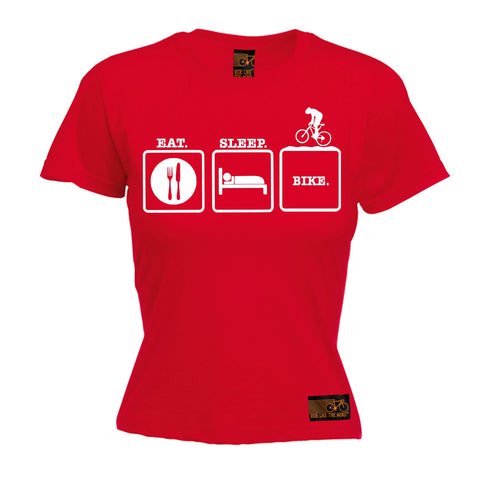 Ride Like The Wind Women's Eat Sleep Bike Cycling T-Shirt