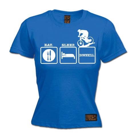 Ride Like The Wind Women's Eat Sleep Downhill Cycling T-Shirt