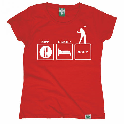 Out Of Bounds Women's Eat Sleep Golf Golfing T-Shirt