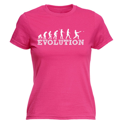 123t Women's Evolution Cricket Funny T-Shirt