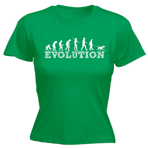 123t Women's Evolution Dog Walker Funny T-Shirt