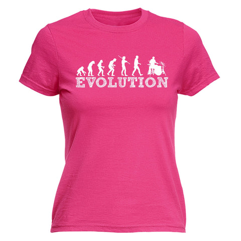 123t Women's Evolution Drummer Funny T-Shirt