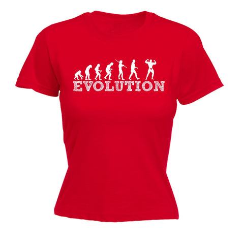 123t Women's Evolution Bodybuilder Funny T-Shirt
