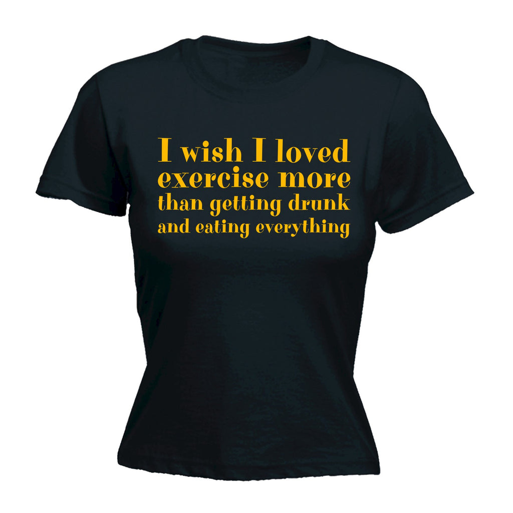 123t Women's I Wished I Loved Exercise - FITTED T-SHIRT