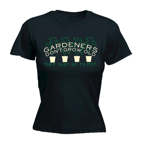 123t Women's Gardeners Dont Grow Old - FITTED T-SHIRT