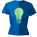 123t Women's Glow In The Dark Light Bulb Funny T-Shirt