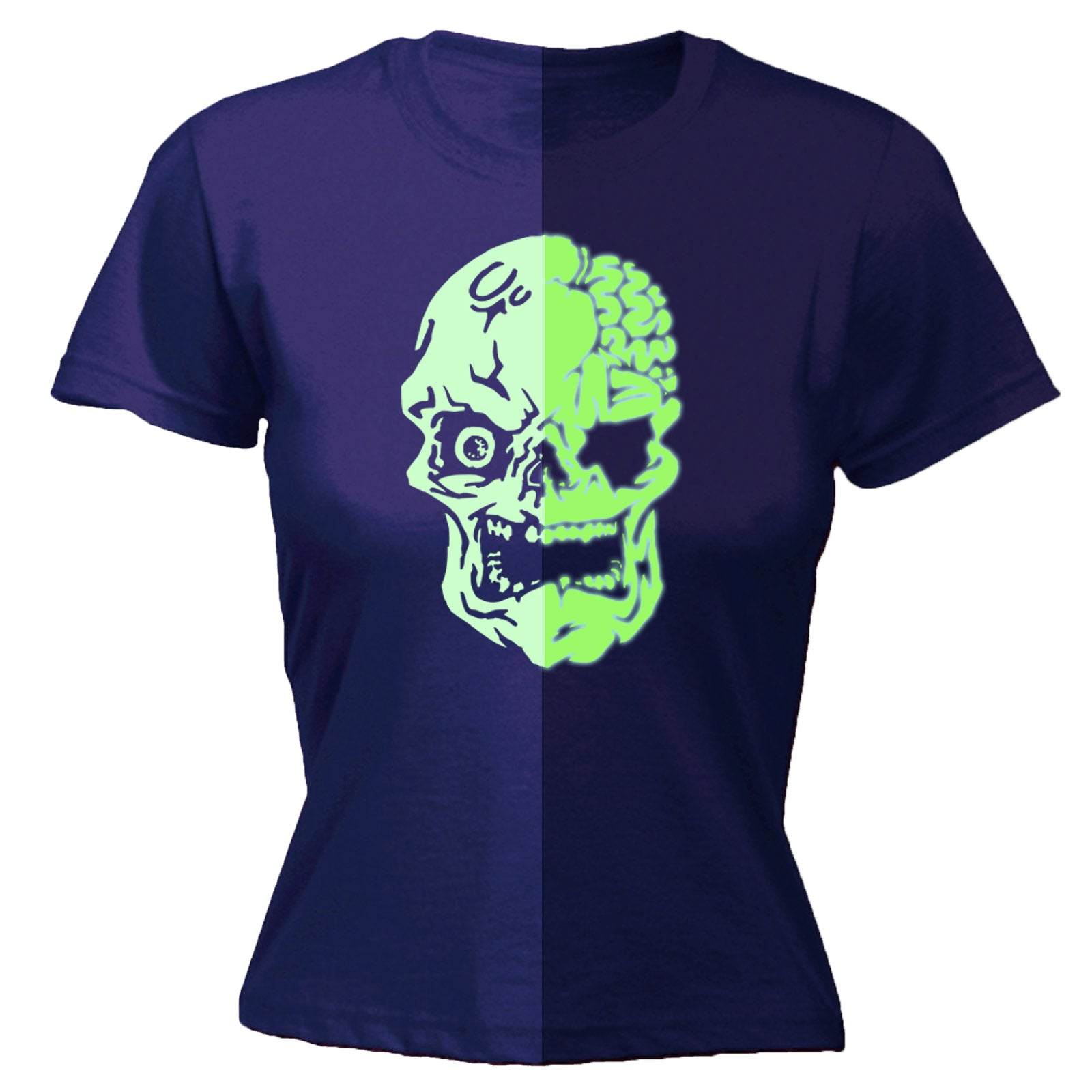 Buy 123t Womens Glow In The Dark Skull T Shirt At 123t T Shirts