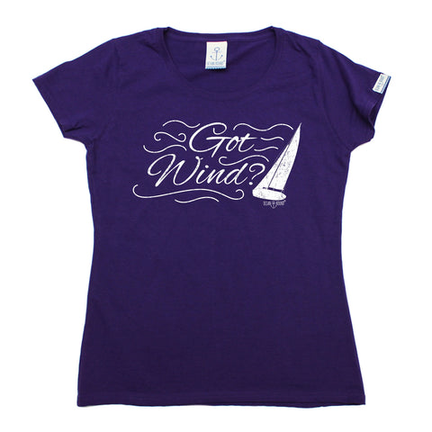 Ocean Bound Women's Got Wind ? Sailing Design T-Shirt