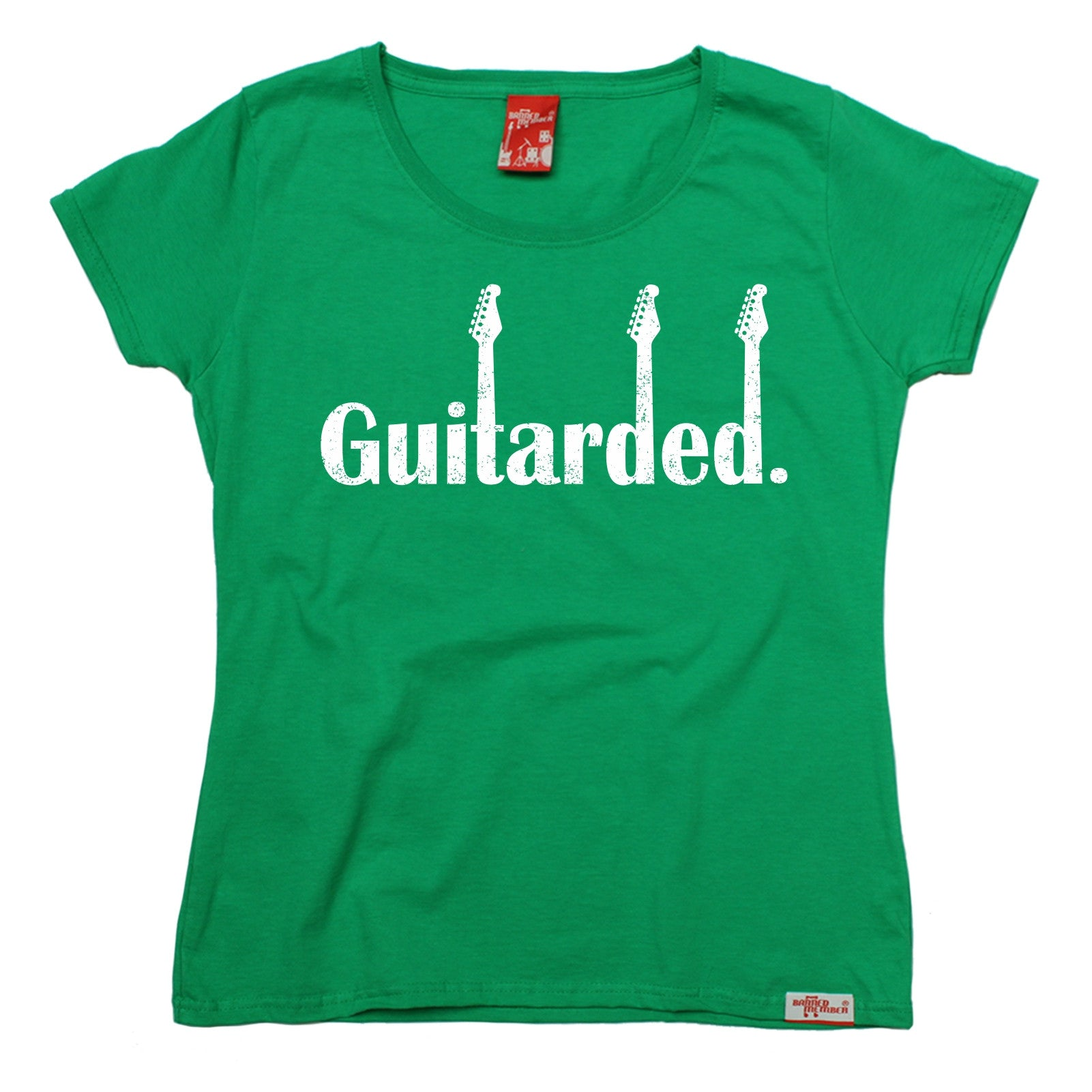 Guitarded-WOMENS-T-SHIRT-Electric-Guitar-Band-Clothing-Funny-birthday-gift