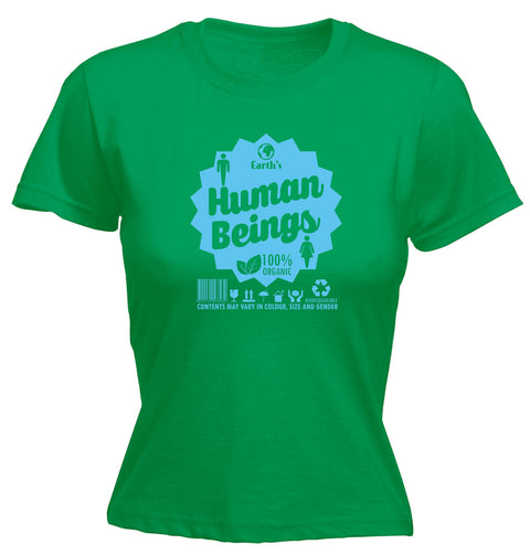 123t Women's Earth's Human Beings 100% Organic Funny T-Shirt