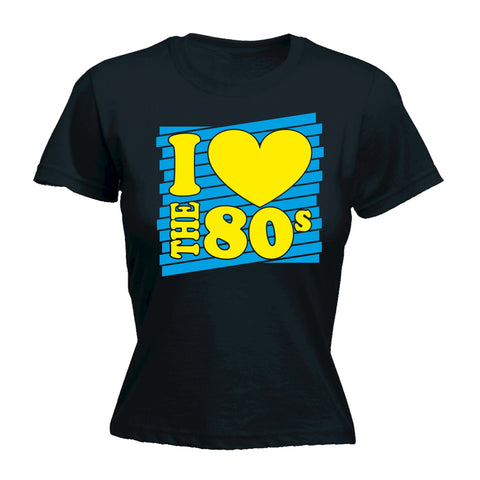 I Heart The 80s - FITTED T-SHIRT Costume Retro Fancy Dress Disco  80's birthday