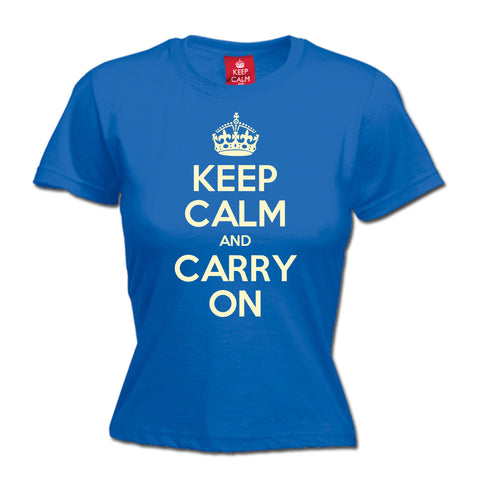 Women's Official Keep Calm And Carry On T-Shirt