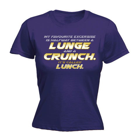 123t Women's My Favourite Lunge Crunch Lunch Funny T-Shirt