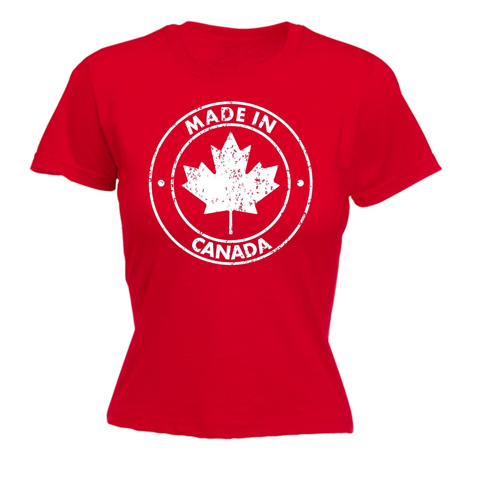 Made in canada womens t shirt canadian nation patriotic for Made in canada dress shirts