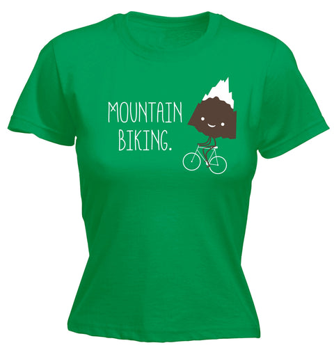 123t Women's Mountain Biking Snow Top Mountain Funny T-Shirt