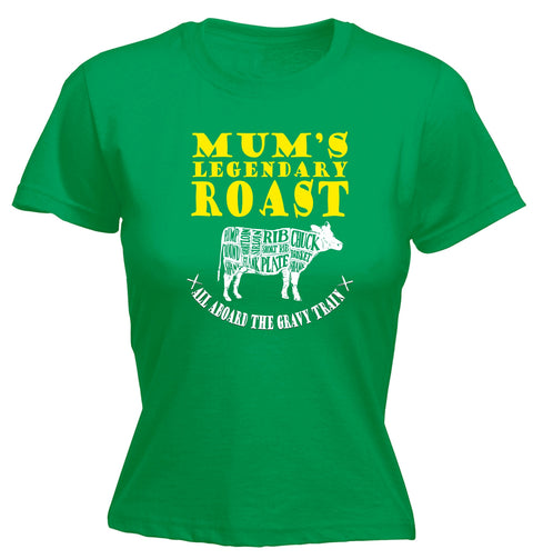 123t Women's Mum's Legendary Roast Funny T-Shirt