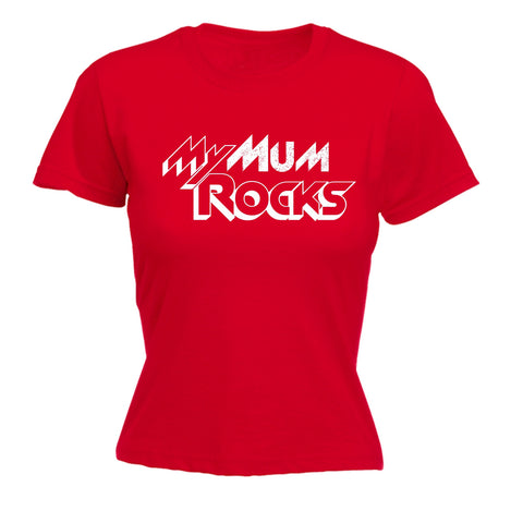 123t Women's My Mum Rocks Funny T-Shirt