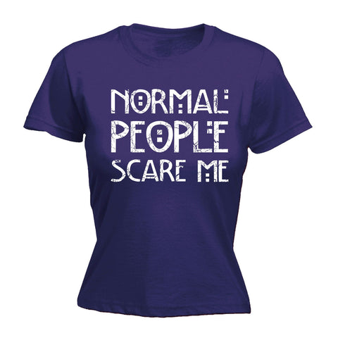 123t Women's Normal People Scare Me - FITTED T-SHIRT
