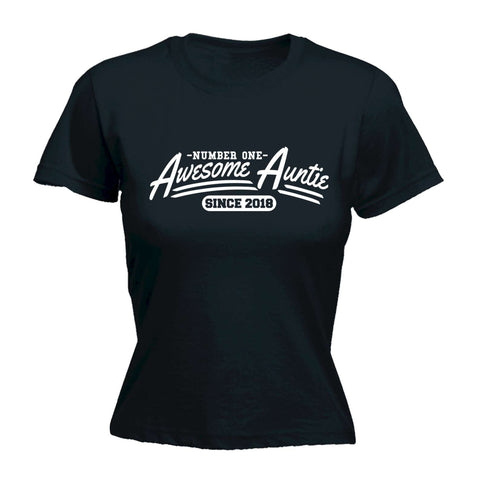 123t Women's Awesome Auntie Since YOUR DATE HERE - FITTED T-SHIRT