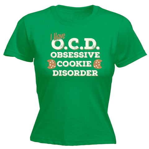 123t Women's I Have OCD Obsessive Cookie Disorder Funny T-Shirt