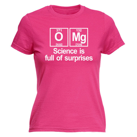 123t Women's OMG Science Is Full Of Surprises Periodic Table Funny T-Shirt