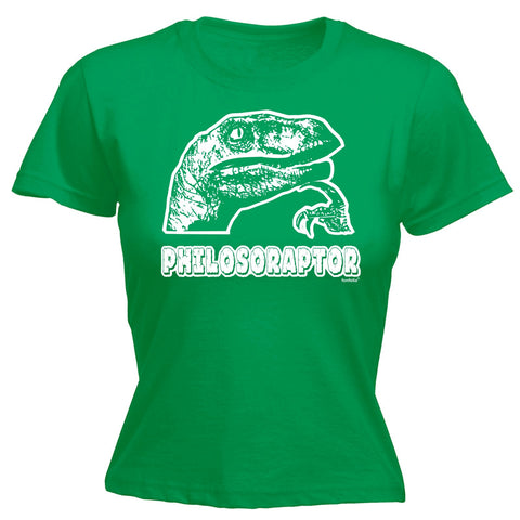 123t Women's Philosoraptor Design Funny T-Shirt