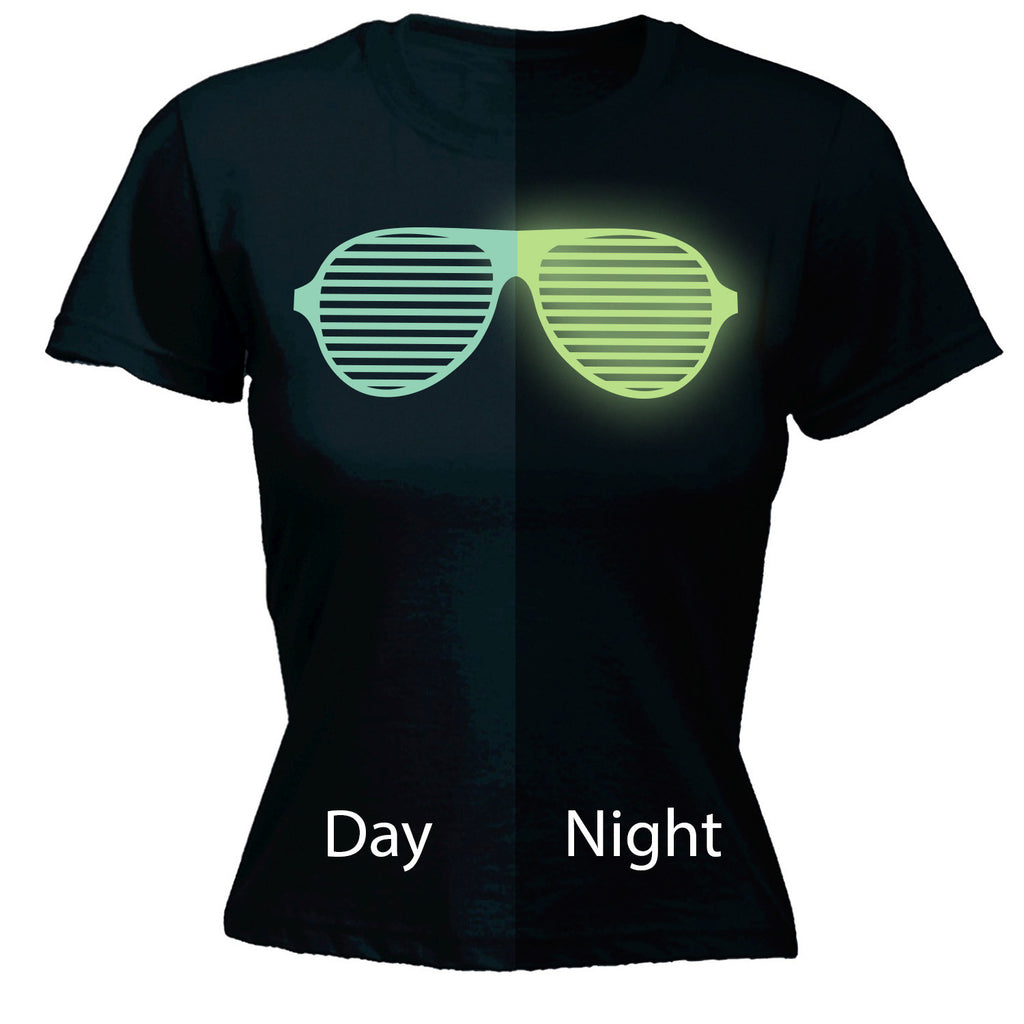 123t Women's Glow In The Dark ... Rave Sunglasses Funny T-Shirt