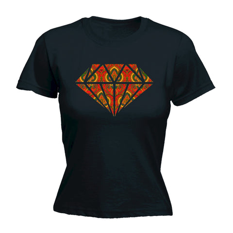 123t Women's Rug Diamond Design T-Shirt Funny T-Shirt