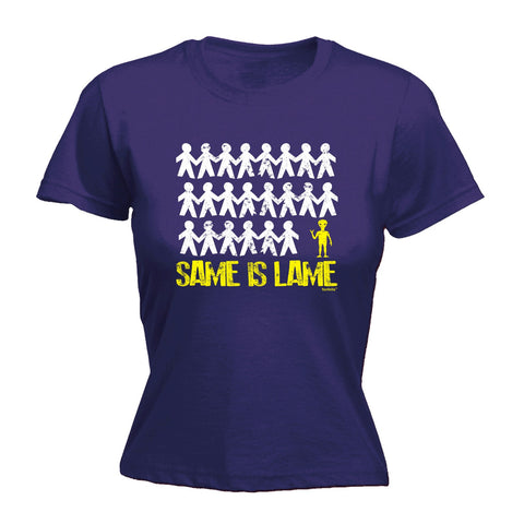 123t Women's Same Is Lame Alien Funny T-Shirt