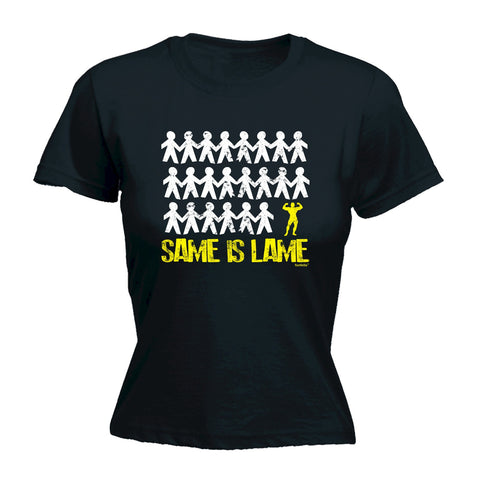 123t Women's Same Is Lame Body Builder Funny T-Shirt