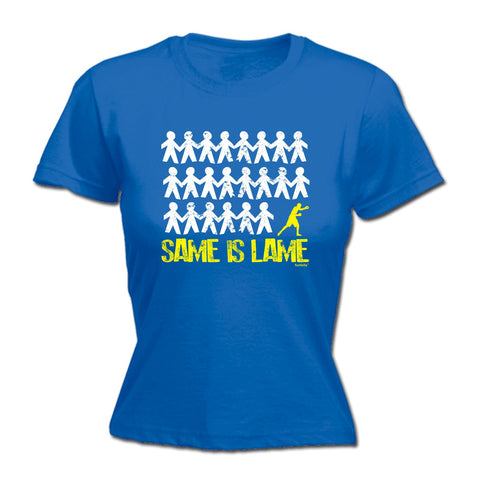 123t Women's Same Is Lame Boxing Funny T-Shirt