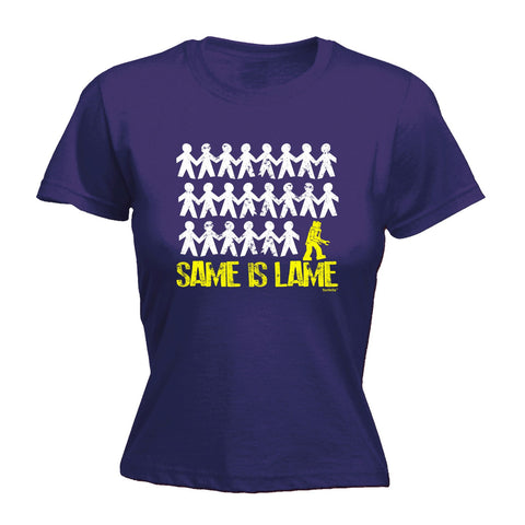 123t Women's Same Is Lame Robot Funny T-Shirt