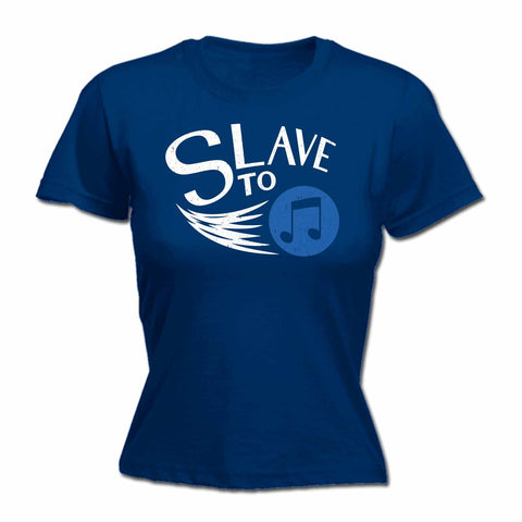 123t Women's Slave To Music Funny T-Shirt