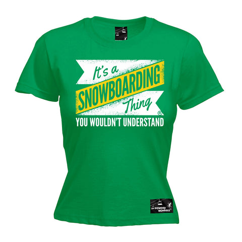 Powder Monkeez Women's It's A Snowboarding Thing Snowboard T-Shirt