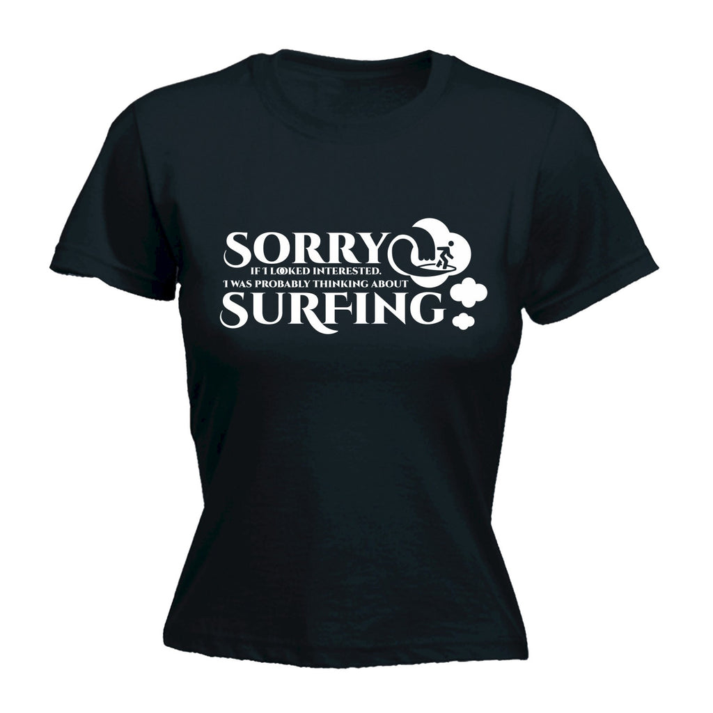 123t Women's Thinking About Surfing - FITTED T-SHIRT